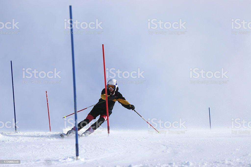 Snow skier in the Alps stock photo