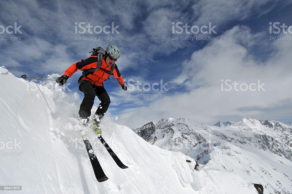 Schnee Ski Jumping Lizenzfreies stock-foto