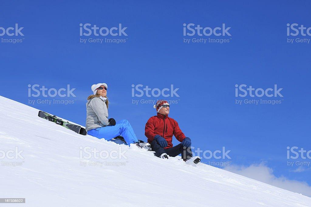 Snow Skiers royalty-free stock photo