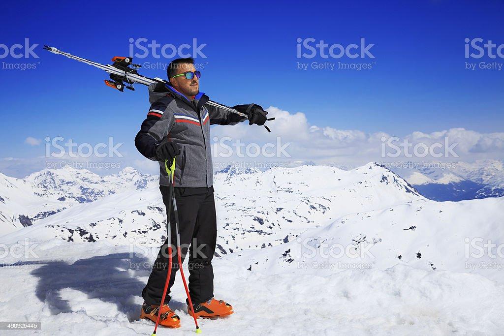 Snow Skiers stock photo