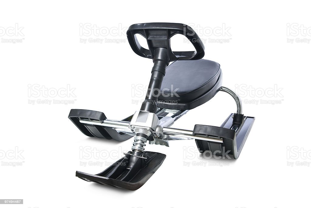 Snow sledge. royalty-free stock photo