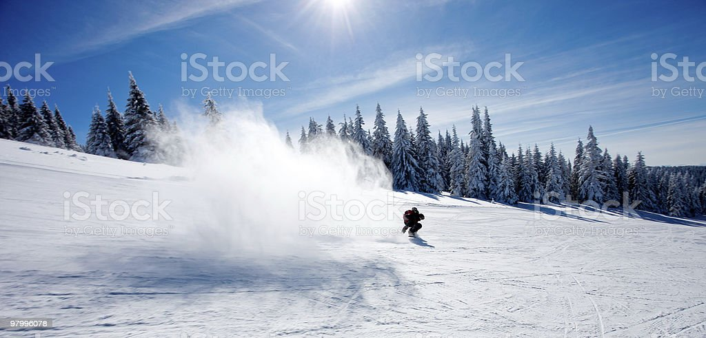 Snow splash royalty free stockfoto