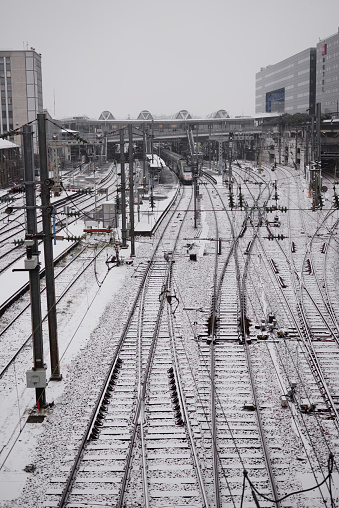 Neige Gare Stock Photo - Download Image Now