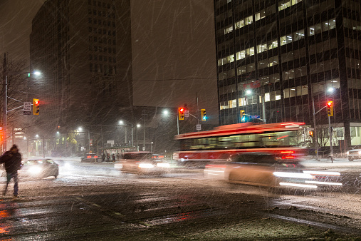 Snow Storm In Toronto Stock Photo - Download Image Now