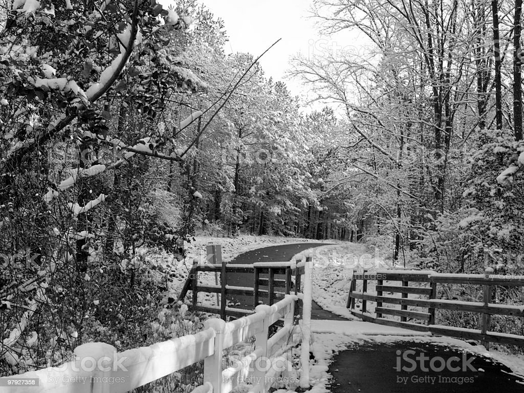 Snow strom in black and white royalty-free stock photo