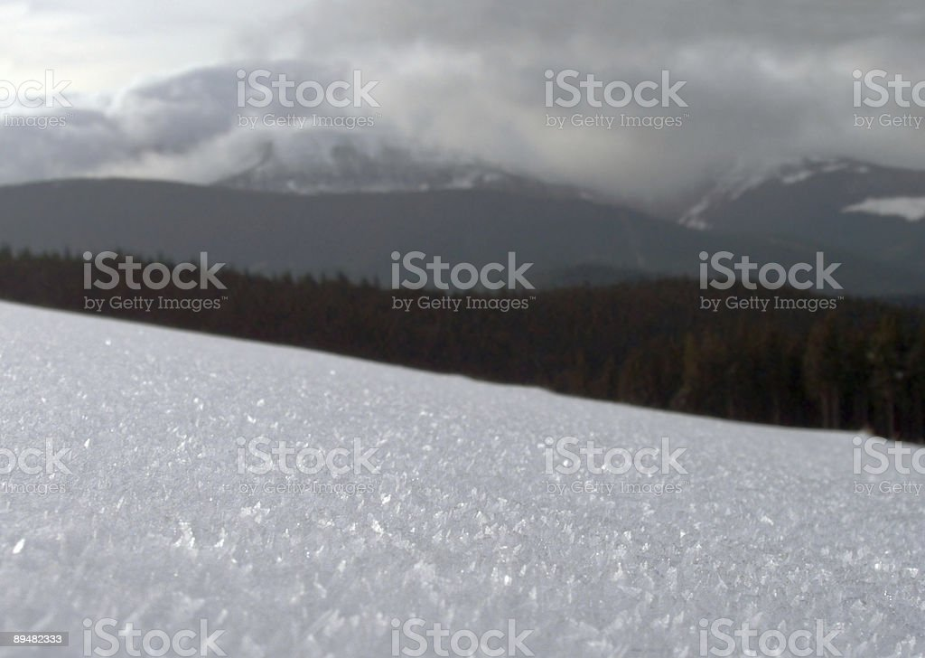 snow surface royalty-free stock photo