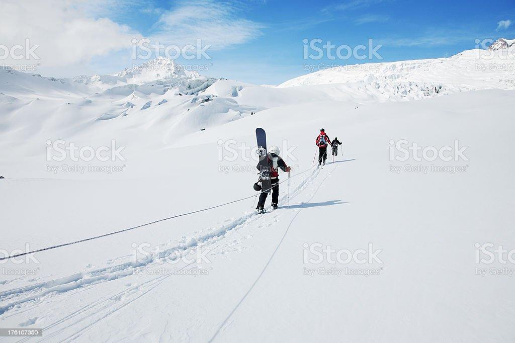 Snow team stock photo