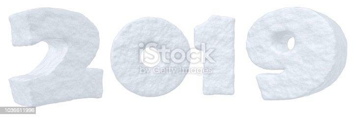 istock 2019 snow text, new year symbol 1036611996