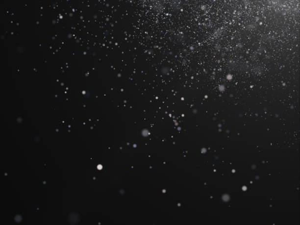 snow texture on black background for overlay - snowflake background stock pictures, royalty-free photos & images
