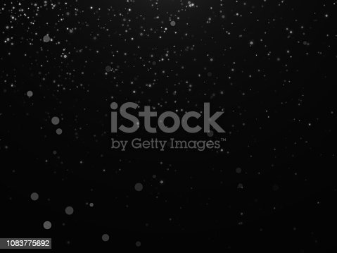 istock Snow texture on black background for overlay 1083775692