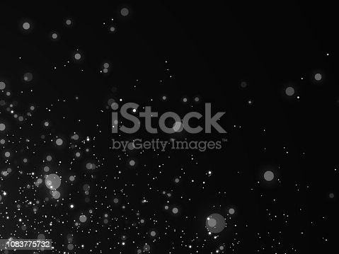 istock Snow texture on black background for overlay 1083775732