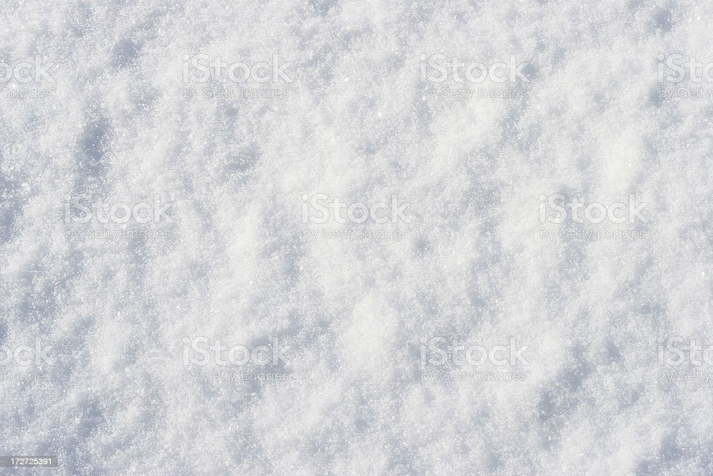Snow Texture Close up, macro of snow with crystals in good view. Abstract Stock Photo