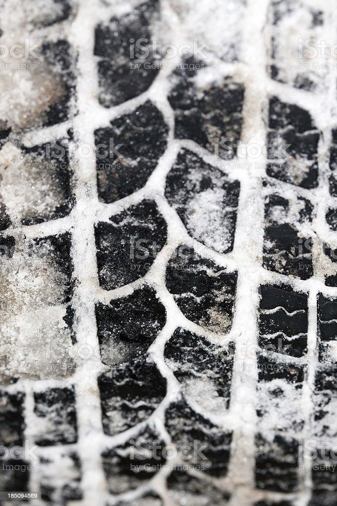Snow Tire stock photo