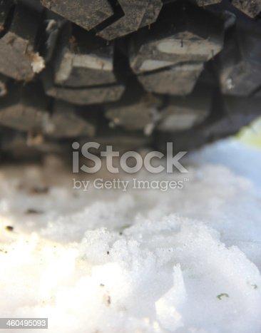 istock Snow tire 460495093