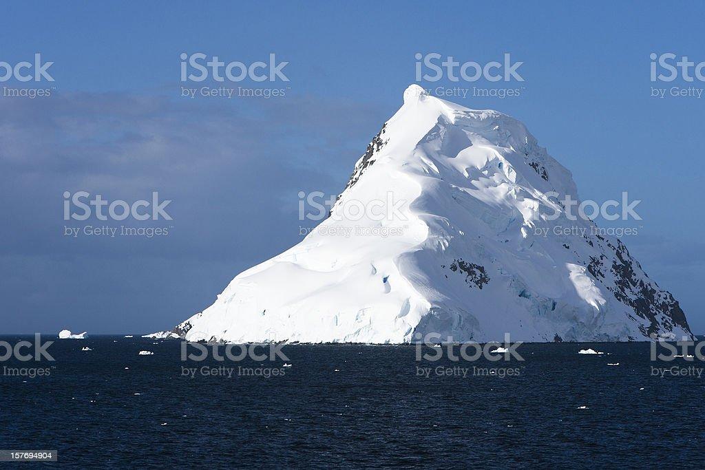 Snow Topped Antarctic Island royalty-free stock photo