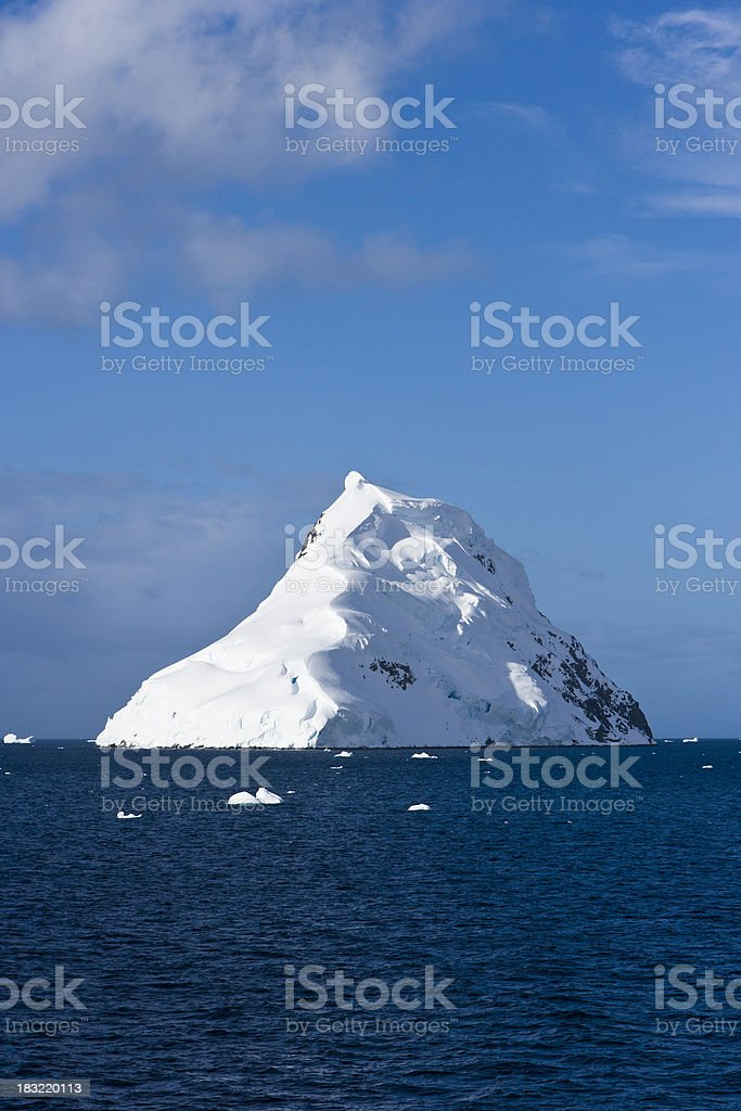 Snow topped island royalty-free stock photo