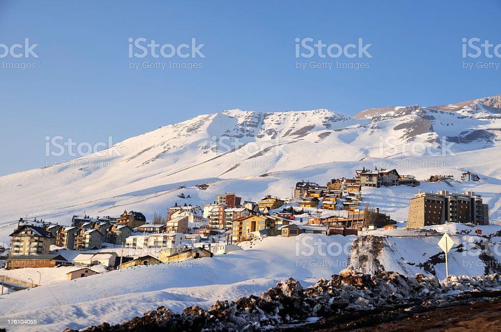 Snow Town royalty-free stock photo