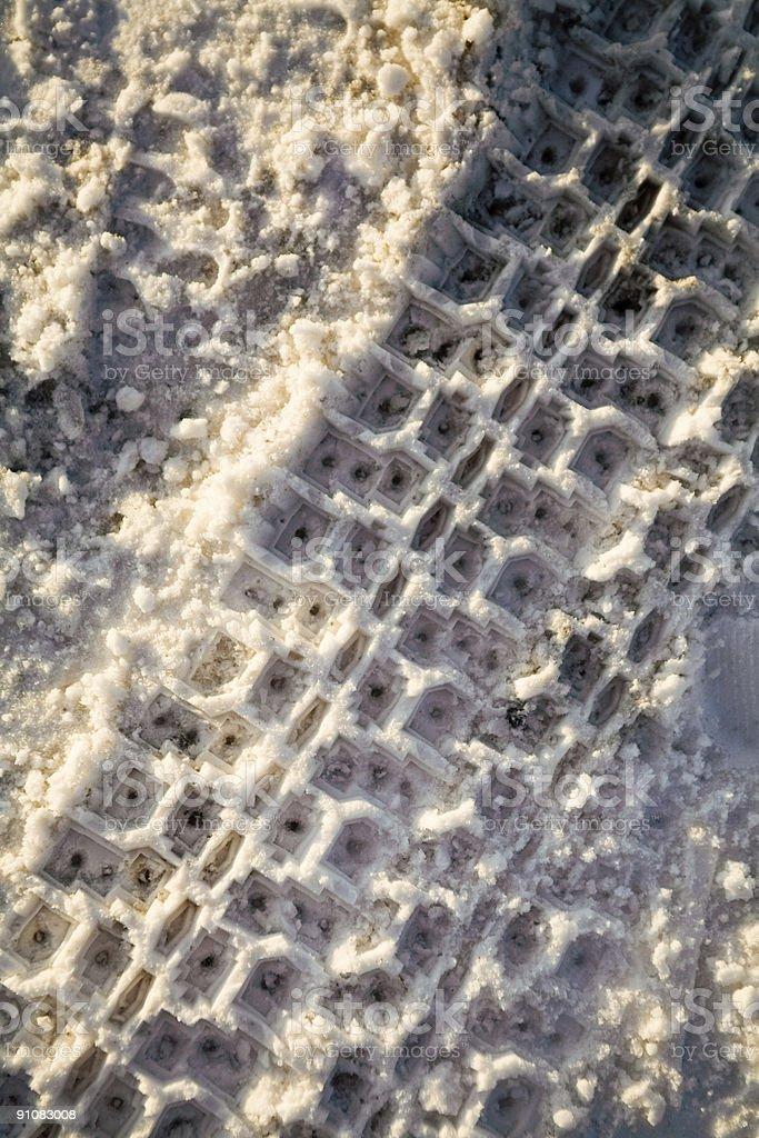 snow trace royalty-free stock photo
