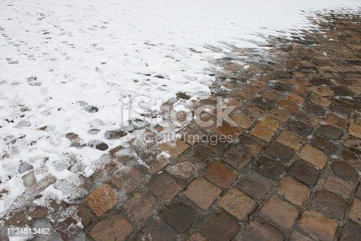 Soft snow on the ground