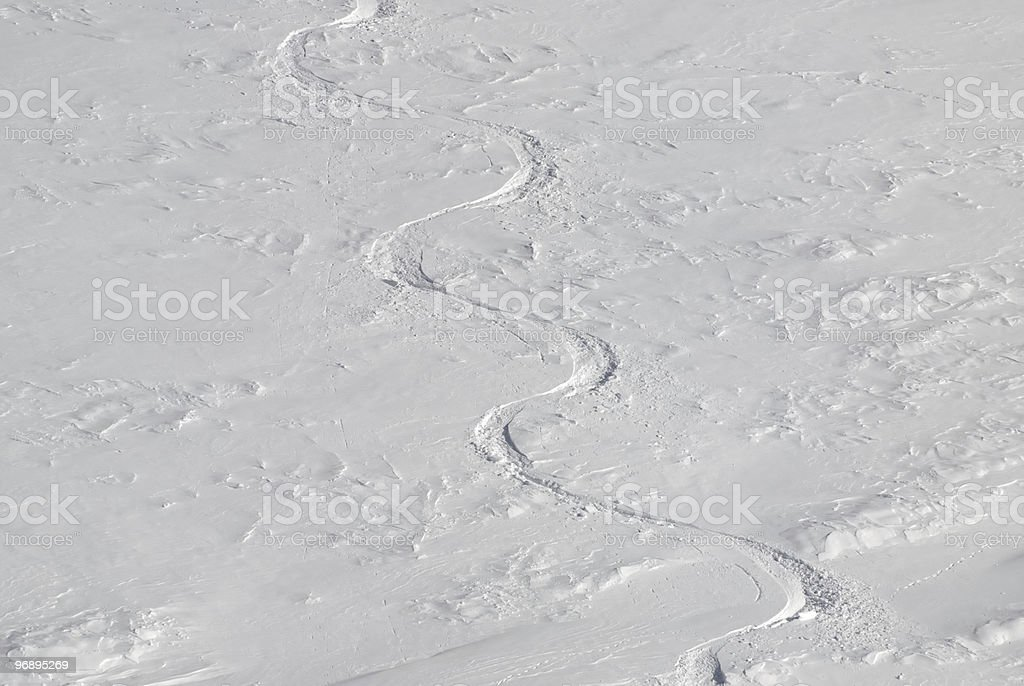 Snow Track royalty-free stock photo