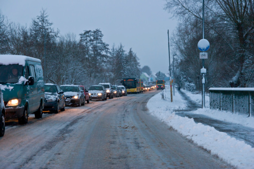 Snow Traffic Chaos