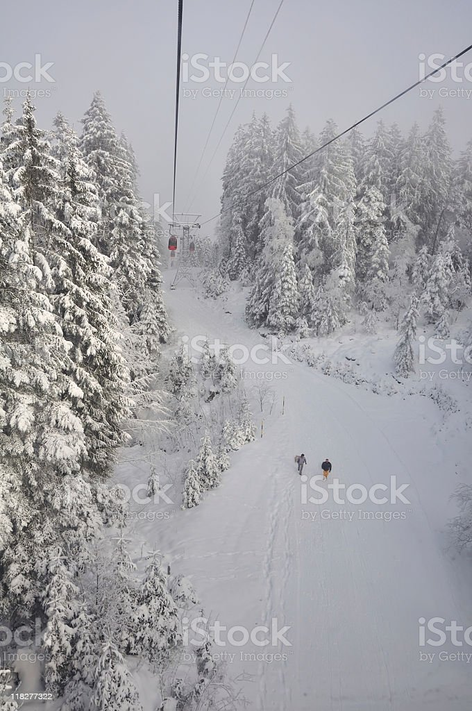 Snow trail royalty-free stock photo