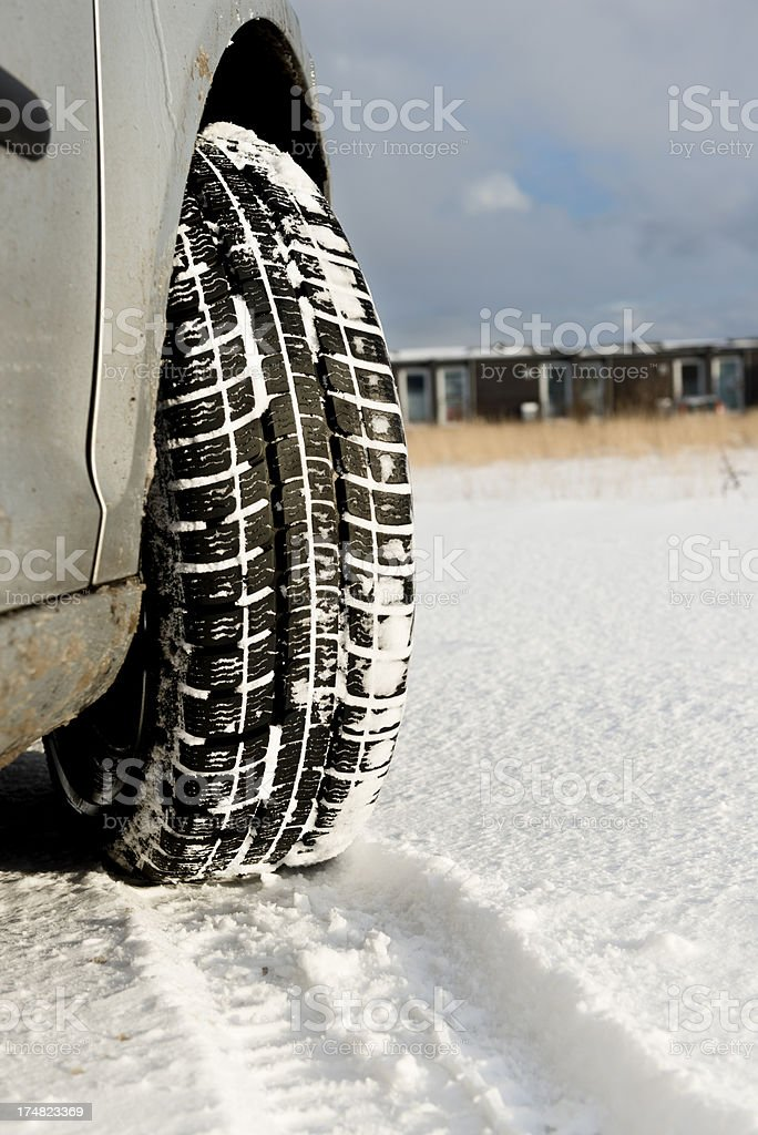 Snow Tyres royalty-free stock photo