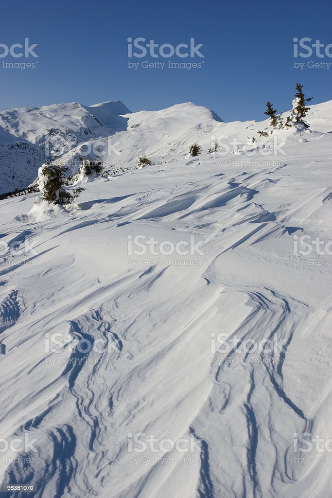 Snow Waves royalty-free stock photo