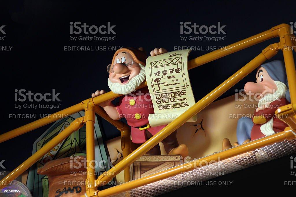 Blanche-Neige et les sept Dwarfs affichage - Photo