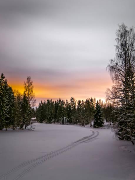 Snow white river - foto de acervo