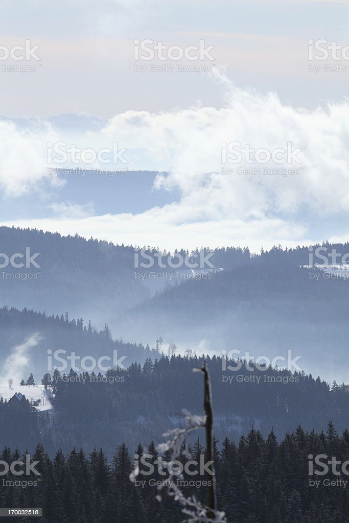snow winter landscape Black Forest royalty-free stock photo