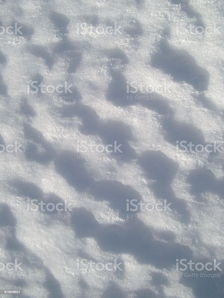 Snow with shadows royalty-free stock photo