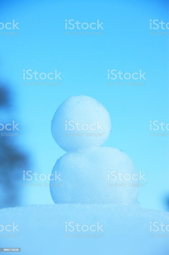 Snowball one foto stock royalty-free