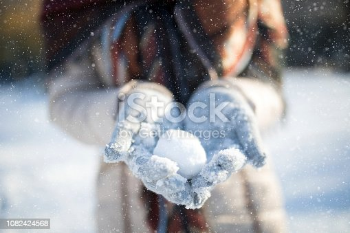 Snowball in hands