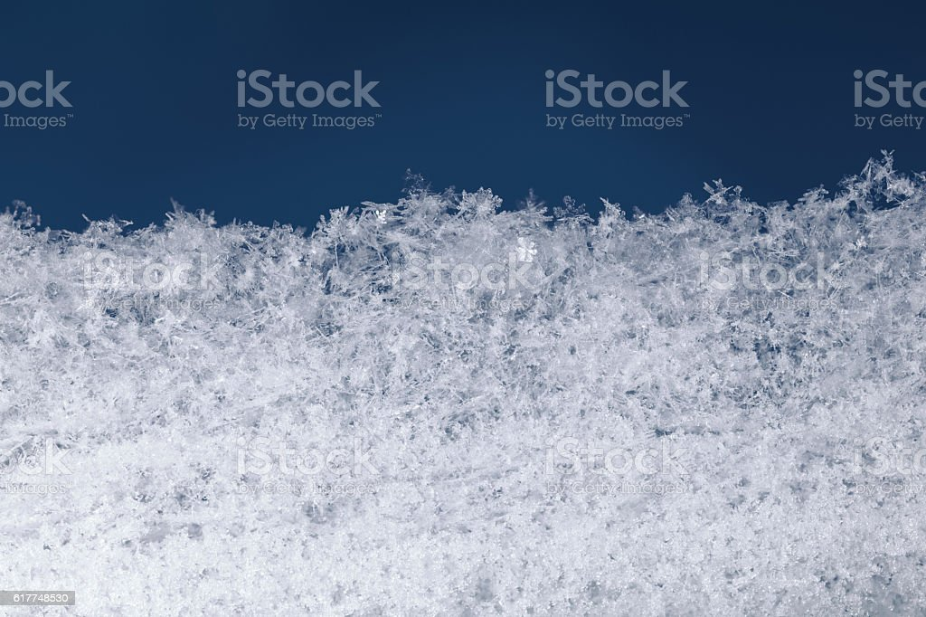 Snowbank structure stock photo
