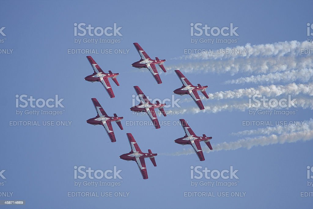 Snowbirds Flying In Formation stock photo