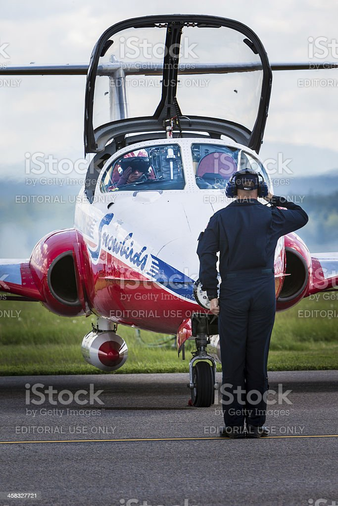 Snowbirds Salute royalty-free stock photo