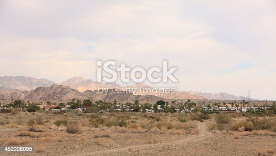 Cottages,trailers and motorhomes . Everyone has settled in for the winter in the desert. Seniors and retirees come from Canada,Western and Eastern United states.  From anywhere that is cold.