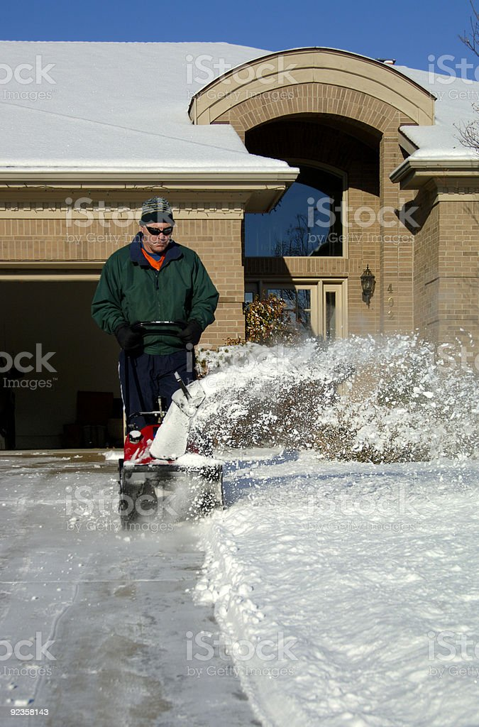 Snowblower 1 stock photo