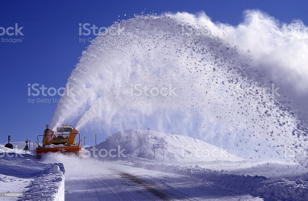 snowblower stock photo