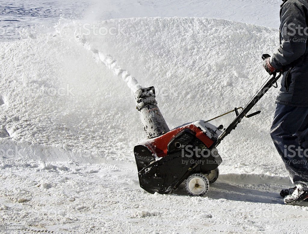 Snowblower royalty-free stock photo