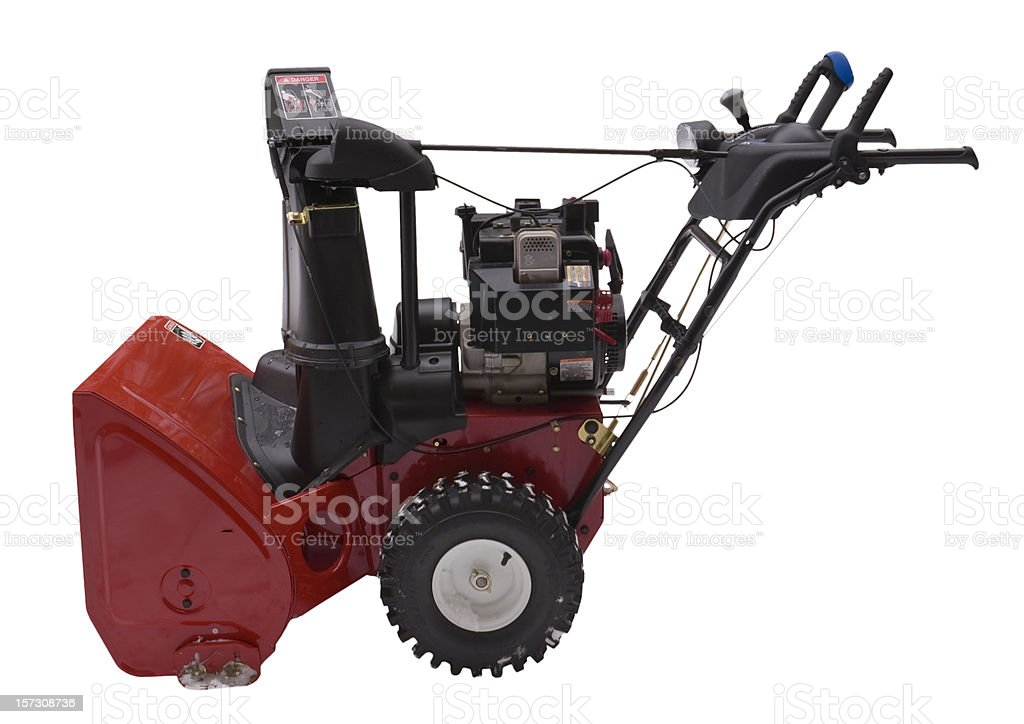 Snowblower - side view stock photo