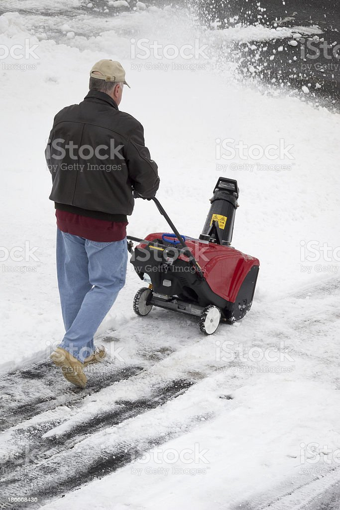 Snowblowing royalty-free stock photo