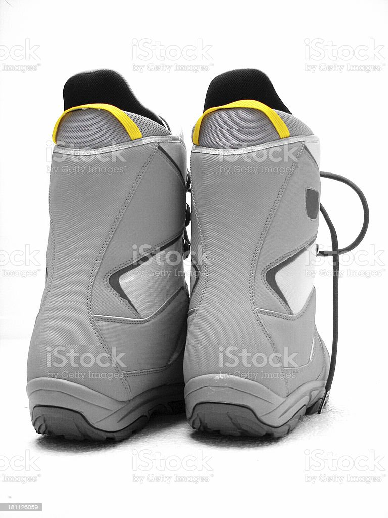 Snowboard Boots stock photo