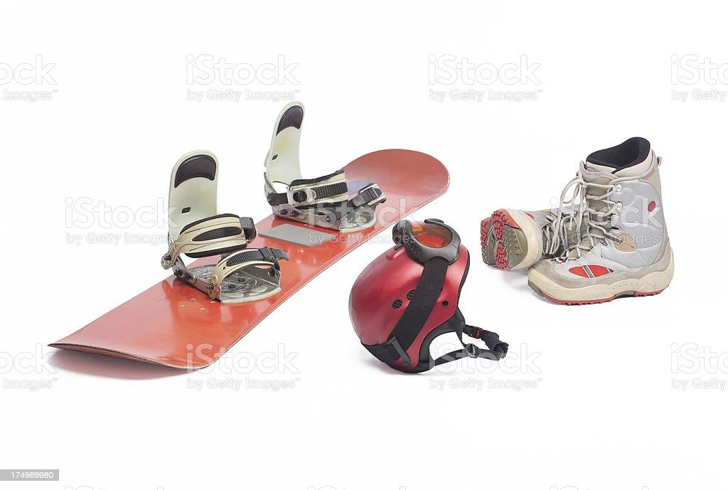Snowboard equipment royalty-free stock photo