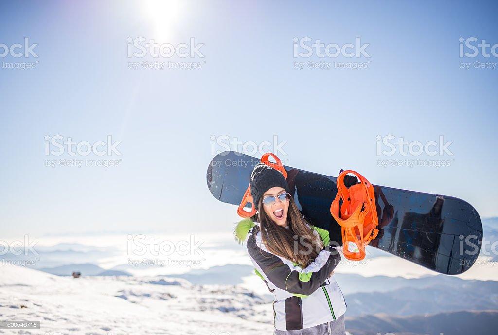 Snowboard Mädchen – Foto