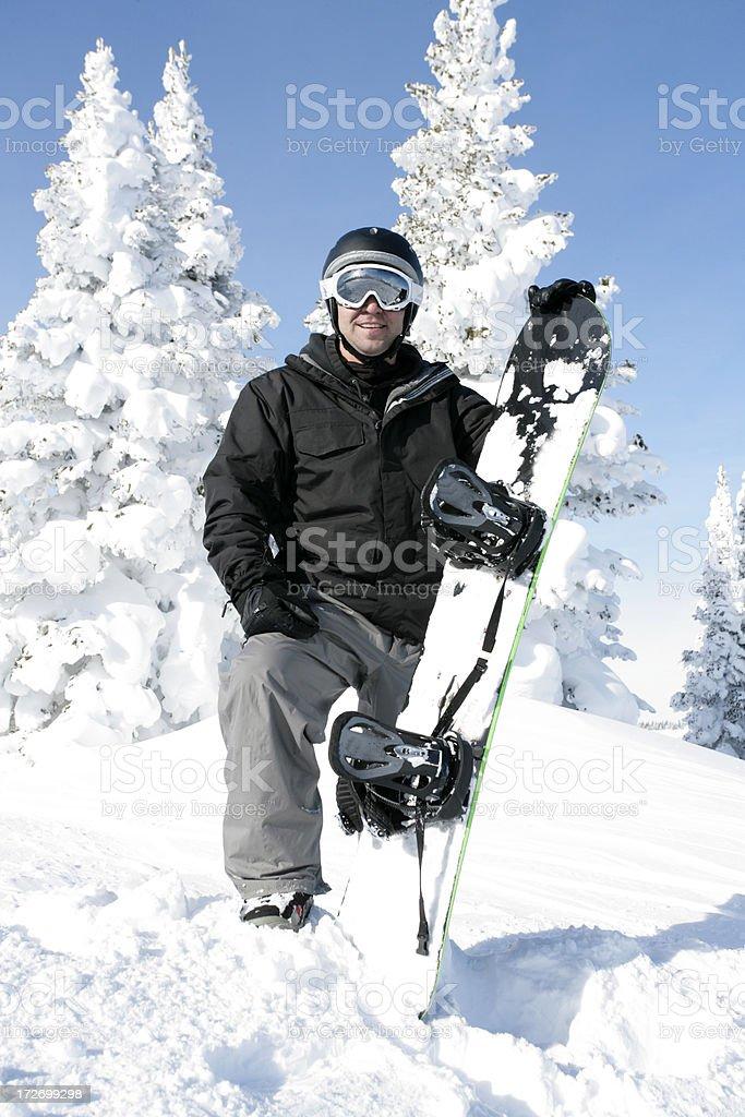 Snowboard Guy royalty-free stock photo