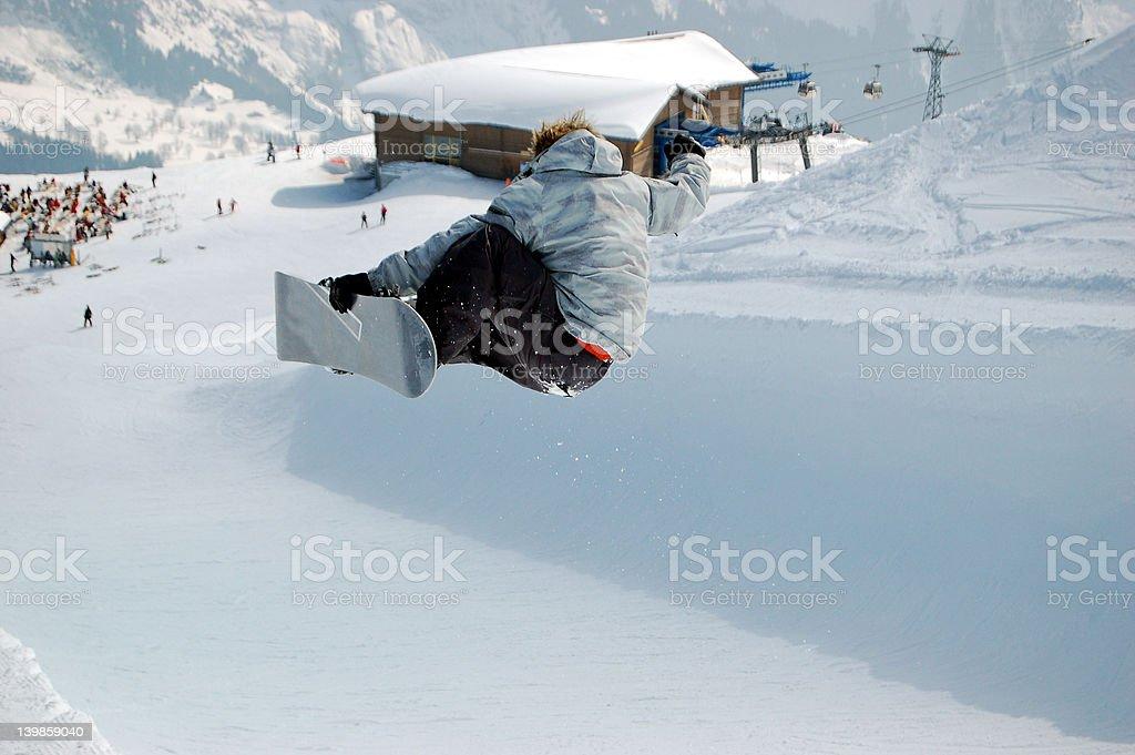 Snowboard Halfpipe Big Air stock photo