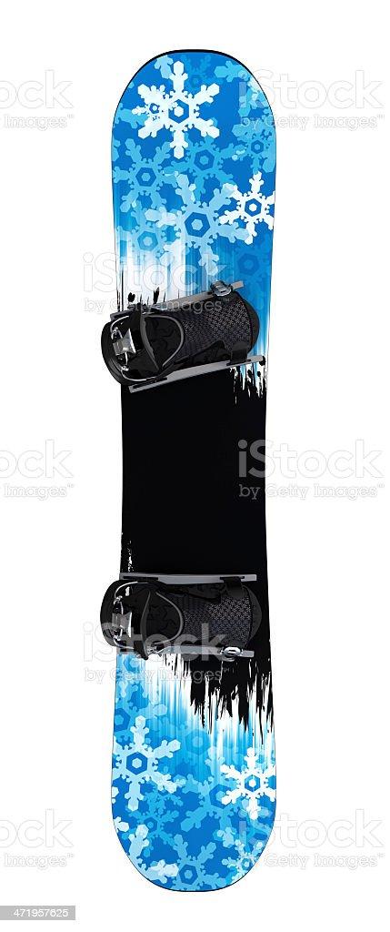 Snowboard isolated II royalty-free stock photo
