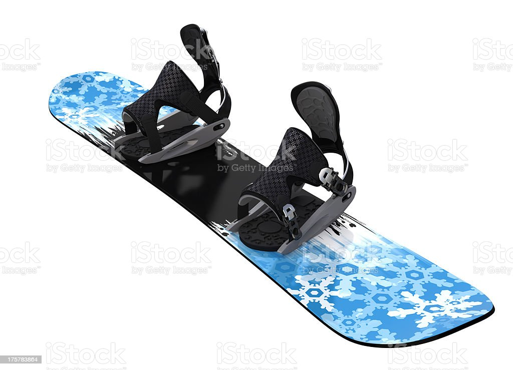 Snowboard isolated on white stock photo